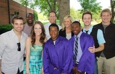The whole family at Josh and Sean's high school graduation! Karen Kingsbury, Donald, Kelsey, Kyle, EJ, Ty, and Austin :)