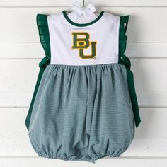 Baylor BU side tie bubble outfit
