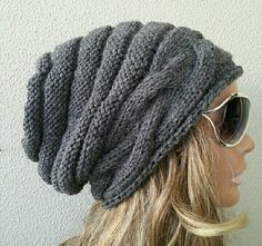Check out this item in my Etsy shop https://www.etsy.com/listing/259430880/womens-hat-slouchy-hat-knit-hat-winter