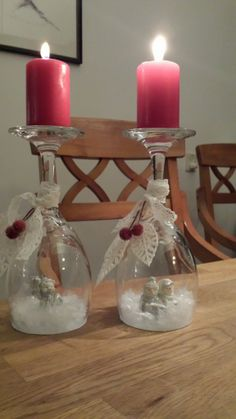wineglass candle