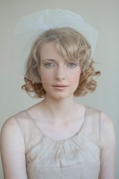 Bridal tulle birdcage veil - Tulle sheer birdcage veil - Style 028 - Ready to Ship - Best Seller