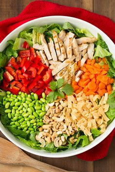 Thai Chicken Salad with Orange Peanut Dressing FoodBlogs.com
