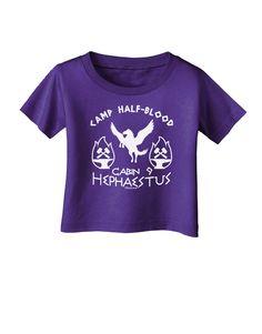 TooLoud Cabin 9 Hephaestus Half Blood Infant T-Shirt Dark