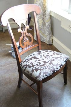 Reupholster The Chair Cushion With Your Favorite Tablecloth Fabric To  Coordinate Your Chairs ...