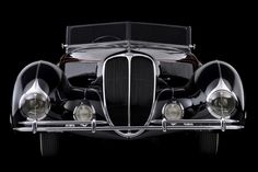 Rolling Sculpture: Art Deco Cars from the 1930s and '40s | North Carolina Museum of Art.  Delahaye Ligoni Roadster, 1938.
