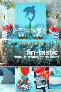 Shark Birthday Party Ideas!