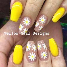 Cute Nail Art Designs for Short Nails - Nail Designs Cute Summer Nail Designs, Cute Summer Nails, Flower Nail Designs, Cute Nail Art Designs, Nail Designs Spring, Cute Nails, Floral Designs, Nail Summer, Acrylic Nail Designs For Summer
