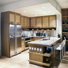 Kitchens Designs, Wonderful U Shaped Kitchen Designs For Small Spaces Together With Wooden Kitchen Cabinets Also Kitchen Island With Sink Plus Granite Countertops And Laminate Flooring As Well As Attractive Furniture: Get Your Kitchen Different Touch With Kitchen Designs For Small Spaces