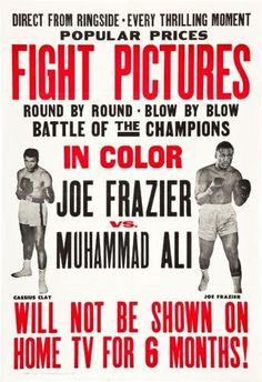 Joe Frazier Muhammad Ali Fight Poster #01 24x36in