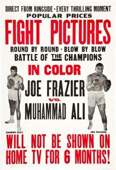 Joe Frazier Muhammad Ali Fight Poster