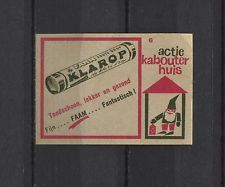 Klarop Drop Vintage Dutch Matchbox Label No.6 | eBay