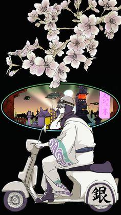 ベスパマン坂田銀時【Twitterヘッダー&あいぽん待ち受け】 Sakata Gintoki | Gintama Pixiv: id=3698107