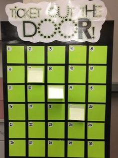 "I like this assessment technique. ""Ticket out the door"" for recess or the end of the day is to write the answer to a problem/question on a sticky and put it on their number. Helps get an idea of who understood and who didn't. :)"