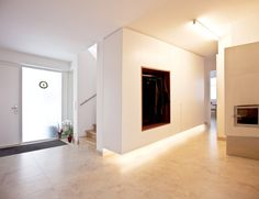 INTERIOR-iD is a premium-quality joinery company specialising in the development, manufacture and installation of bespoke fitted interiors in a range of materials. Modern Interior, Interior Design, Interior Ideas, Linear Lighting, Hallway Decorating, Front Entry, Joinery, Bookshelves, Entrance