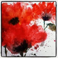 Watercolour poppies - want to paint this for Anzac day Remembrance Day Activities, Remembrance Day Poppy, Poppy Craft, 3rd Grade Art, Grade 2, Watercolor Poppies, Watercolor Paintings, Atelier D Art, Anzac Day