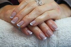 CND Shellac nails in French using Field Fox and Cream Puff. #salcombe #french #manicure #nails