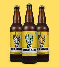 Brasserie La Chamoise on Behance Craft Beer Labels, Wine Labels, Nano Brewery, Beer Label Design, Coffee Label, Coffee Packaging, Bottle Packaging, Food Packaging, Beer Brands