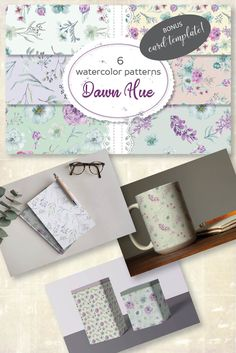 Pretty seamless patterns in shades of lilac and blue. Available in my shop for $2.50 #watercolors #watercolorpapers #watercolorpatterns #floralpattern #blueflowers #lilacflowers #digitalpattern #pattern Lilac Flowers, Watercolor Pattern, Digital Pattern, Watercolors, Hue, Decoupage, Scrapbooking, Paper Crafts, Shades