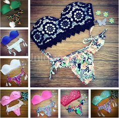 Encontrar Más Conjuntos de Bikinis Información acerca de 2015 Triangl bikini set nuevo traje de baño sexy Beach para mujer traje de baño empuja hacia arriba bikinis brasileño maillot de baño B37, alta calidad Conjuntos de Bikinis de Unique -You en Aliexpress.com