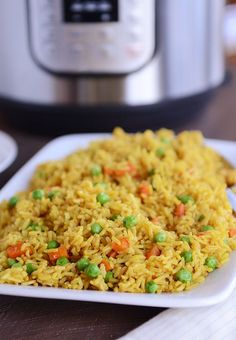 Pressure Cooker Instant Pot Healthy Indian Vegetable Rice - veganize with vegetable broth