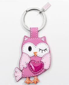 Coach key ring. Hearts & owls... so me.