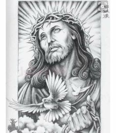 Planned for my right arm. Christ Tattoo, Jesus Tattoo, Jesus Drawings, Tattoo Drawings, Future Tattoos, Tattoos For Guys, Tattoo Studio, Body Art Tattoos, Sleeve Tattoos