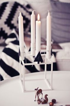 Advent candles with Kubus by Lassen