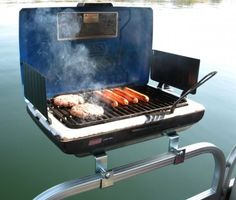 Pontoon Grill Bracket Set – $35 #outdoor #cook #eat #meal #barbecue #stainless #steel #gift