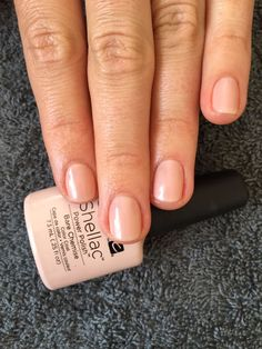 CND Shellac nails - Bare Chemise. Simply elegant and 'barely there' - Complexions  www.complexions.co.zw