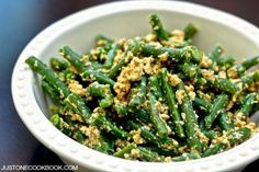 Green Bean Shiraae いんげんの白和え • Just One Cookbook
