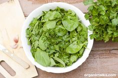 Spinach salad ideas: Spinach – parsley salad (green queen) Spinach and parsley have unique antioxidants and disease preventing properties. organictalks.com