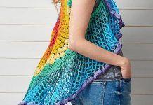 Rainbow Mandala Vest Pattern