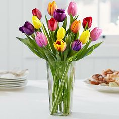 Multi-Colored Tulips for Mom and other flowers & plants at ProFlowers.com