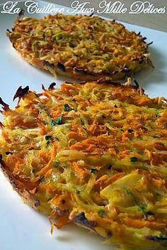 La meilleure recette de Galette de pomme de terre & carotte! L'essayer, c'est l'adopter! 5.0/5 (1 vote), 1 Commentaires. Ingrédients: 300 gr de pommes de terre  150 gr de carotte  1 oeuf  40 gr de gruyère râpé  Persil  Sel, Poivre