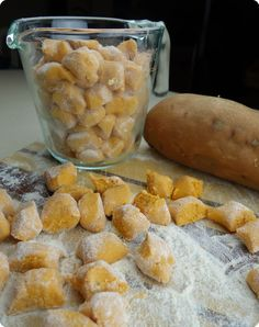 Learn to make healthy, gluten-free sweet potato gnocchi, just like they make in Italy! Plus there's a recipe for Chicken and Sweet Potato Gnocchi soup just like at the Olive Garden. Get the recipe at FollowMeg.com