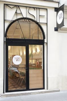 The Maisie Café | MilK decoration Restaurant Facade, Restaurant Paris, Restaurant Concept, Paris Restaurants, Cool Restaurant Design, Retail Facade, Shop Facade, Cafe Signage, Cafe Door