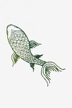 koi fish hand embroidery design at DuckDuckGo Embroidery Transfers, Embroidery Patterns Free, Embroidery Designs, T Shirt Embroidery, Stitching Patterns, Embroidery Motifs, Ribbon Embroidery, Cross Stitching, Snake Patterns