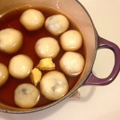 Chinese traditional dessert for Chinese New Year - Tangyuan in black sesame flavor - click here to get the recipe :)