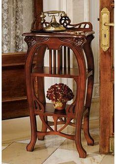 Art Nouveau Harp Side Table