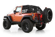 2007-2016 Jeep Wrangler 2 Door Smittybilt C•RES HD - Cargo Restraint System