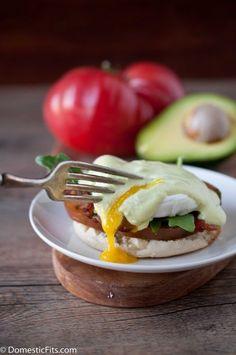 BLT Eggs Benedict wtih Avocado Hollindaise