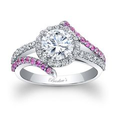 Engagement Ring With Pink Sapphires - Engagement Ring With Pink Sapphires