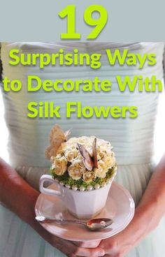 We'll never look at artificial flowers the same way again after this