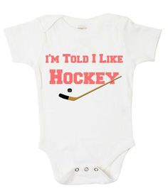 Hockey baby onesie @Jess Liu southward I think baby #2 needs this lol