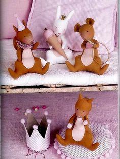 Тильда Белочка: выкройка мягкой игрушки для шитья