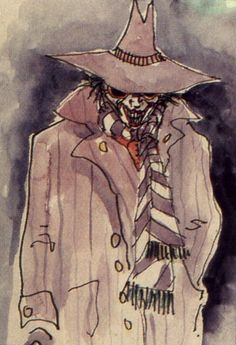 Tim Burton's Joker concept art for Batman Jack Skellington, Clowns, Batman Concept Art, Batman Artwork, Tim Burton Artwork, Tim Burton Kunst, Art Spiegelman, In The Pale Moonlight, Fantasy Characters
