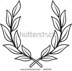 laurel wreath with my family name in the middle my next tattoo rh pinterest com