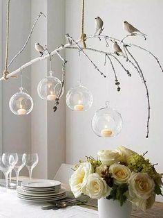 30 fabulosas ideas para decorar con ramas secas.   #ramas #decoración #rústico…