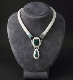 This necklace have performed by weaving of fine silver wires, using traditional celtic techniques, and is embellished with malachites of extraordinary beauty and color, as well as with pieces of green leather strap. Turquoise Necklace, Beaded Necklace, Green Leather, Malachite, My Works, Celtic, Sterling Silver, Weaving, Traditional