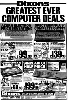 Dixons greatest ever computer deals, all the way from 1985!